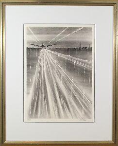 R.Florsheim (English,1916-1979) Original Lithograph Print Signed Numbered