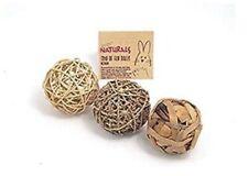 Rosewood Naturals Trio of Fun Balls Medium For Small Animals Cats Rabbits NEW