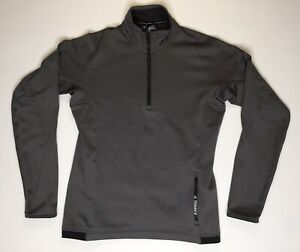 Adidas Terrex 1/4 Zip Long Sleeve Size Youth Medium Gray Active Warm Pull Over