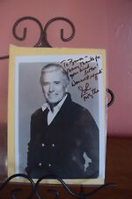 JOHN FORSYTHE SIGNED PHOTOGRAPH WITH PERSONAL ENVELOPE~1985