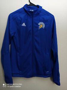 San Jose State Spartans NCAA Adidas Women's Blue  ClimaWarm Full Zip Hoodie