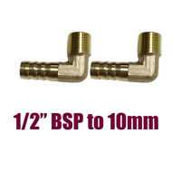 """2x1/2"""" NPT Male Threads 10mm Inch Barb Elbow Connector Hose Barb Fitting"""