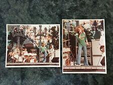 The Who Anaheim Stadium 1970 Original Photos 2 Roger Daltrey Pete Townshend