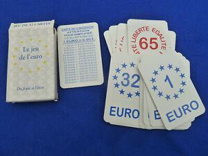 LE JEU DE L'EURO DU FRANC A L'EURO SOCIETE GENERALE 32 CARTES EDITE PAR PEJI