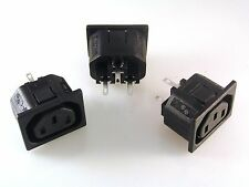 Bulgin PX0783/15/28 IEC Mains Connector Female Shuttered snap in 3 pieces MBH002