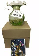 Vietri Hibiscus Glass Green Bud Vase New With Vietri Box