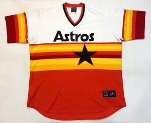 Vintage Majestic Cooperstown MLB Houston Astros Jersey White Orange 3XL XXXL USA