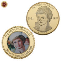 WR Princess of Wales Lady Diana Commemorative Coin in 24K Gold Craft Collectibes