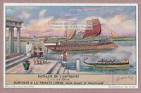 Greek Grece  Bateaux Sailing Ship Old Ancient Historic 60+ Y/O Trade Ad Card
