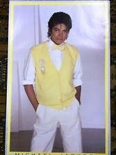 "Original Near Mint 1983 Classic Michael Jackson Poster:  - Yellow Vest - 35x23"""