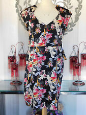 FABULOUS ORIENTAL-LOOKING M & CO SPECIAL OCCASION DRESS, size 16