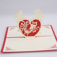 3D Pop Up Greeting Card Beautiful love Valentine's day  Birthday postcards