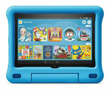 Amazon Fire HD 8 (10th Generation) Kids Edition 32GB, Wi-Fi, 8in - Black with Blue Kid-Proof Case