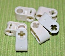 (6) WHITE #2 Cross Hanger w/ [+/O] Oval Beam Technic Bricks ~ NEW ~ Lego