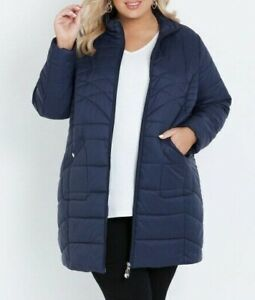 Ladies plus size 20  Navy AUTOGRAPH Long  Puffer  jacket  NEW RRP$139.99