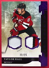 2019-20 Artifacts Taylor Hall 22/25 Materials Purple #82 New Jersey Devils