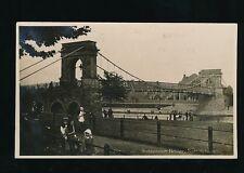 Nottinghamshire Notts NOTTINGHAM Suspension Bridge local children 1918 RP PPC