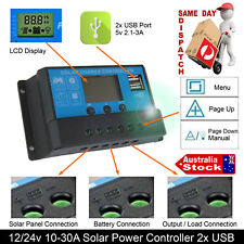 10A 12v 24v Solar Panel Battery Charger Controller LCD Display CAR BOAT TRUCKS