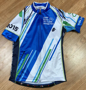 Hincapie 2015 JDRF Full Zip Cycling Jersey Diabetes Race Women's SZ M