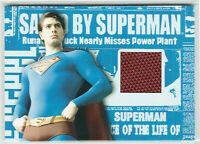 Superman Returns Topps Authentic Movie Memorabilia Superman's Cape Brandon Routh