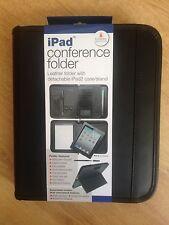 2 X iPad Leather Conference folder, Leather folder /detachable ipad case /stand