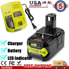 For Ryobi P108 18V 18 Volt One+ Plus High Capacity Lithium-ion Battery / Charger