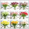 10pcs Artifical False Touch PU Tulips Flower Bouquet Room Home Decor For Wedding