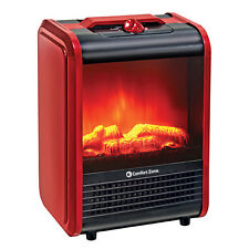 Small Electric Fireplace Portable Mini Deco Ceramic Heater Standing Fire Flame