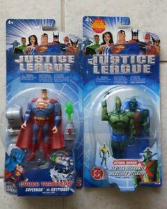 NEW JUSTICE LEAGUE SUPERMAN VS KRYPTOBOT & MARTIAN MAN HUNTER FIGURES! S116
