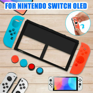 Soft Silicone Protective Skin Case Cover + Thumb Grips For Nintendo Switch OLED