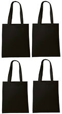 Lot 10 Tote Bag Reusable Black Shopping Grocery Travel Cheap Bulk Wholesale NEW