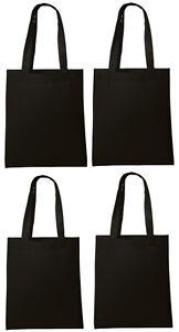 Lot 300 Tote Bag Reusable Black Shopping Grocery Travel Cheap Bulk Wholesale NEW