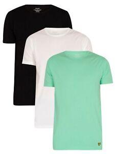 Lyle & Scott Men's Maxwell Lounge 3 Pack Crew T-Shirts, Multicoloured