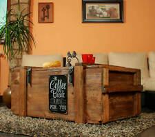 Table basse coffre en bois Boîte shabby chic Caisse Coffe pause