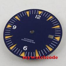 31mm blue corgeut sterile dial luminous Watch Dial for 2824 2836 Movement D32