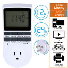 Programmable LCD 12/24 Hour Digital Electronic Plug-in Timer Switch Socket 7 Day