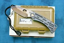 MEDFORD KNIFE & TOOL - COLONIAL TI - D2 VULCAN BLADE! PVD HANDLE - MK026DV-30PV