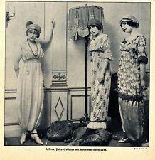 Neue Poiret-Toiletten mit modernen Hosenröcken (Modephot.Paul Doyé) 1911
