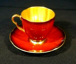 Beautiful Carlton Ware Rouge Royal Cup And Saucer