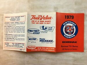1979 DETROIT TIGERS Pocket Schedule  True Value Hardware FREE SHIPPING