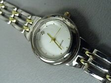 Diamond ladies watch Valetta 2 tone stainless 6 1/2 and 7 1/2 inch band Clean