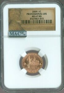 2009 LINCOLN CENT Professional Life NGC MS67 MAC Quality✔️