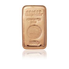 More details for 1kg copper cast bullion bar .999
