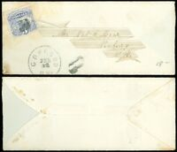 1869c FEB (12?) Concord NH CDS, Fancy Address Design, to Newbury, NH, US Sc #114