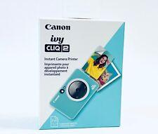Canon Ivy Cliq 2 Instant Film Camera Printer 4520C002 - Turquoise - BRAND NEW
