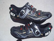 Sidi Genius 6.6 Carbon lite Road shoes,mens 43 Euro, :US-9, Lorica mesh Black
