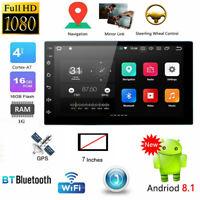 "Universal 7"" Car GPS MP5 Radio Player 16GB 2Din Android8.1 WiFi Bluetooth FM USB"