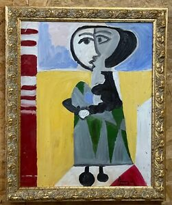 PABLO PICAsSO - oil on original canvas from 1950's - Jaqueline