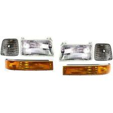 Headlights Pair Fits 92 1996 Ford F150 92 97 F250 1992 1996 Bronco 6 Piece