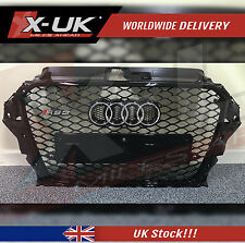 FRONT GRILL FULL GLOSS BLACK  FOR AUDI A3 S3 8V TO RS3 2012-2015